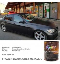 Frozen Black Grey Metallic