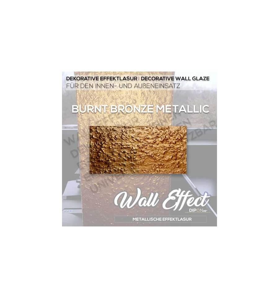 Effekt Wandfarbe Bronze Metallic: DIPON® Wall Effect Aluminium Metallic Deko Wandlasur Wall