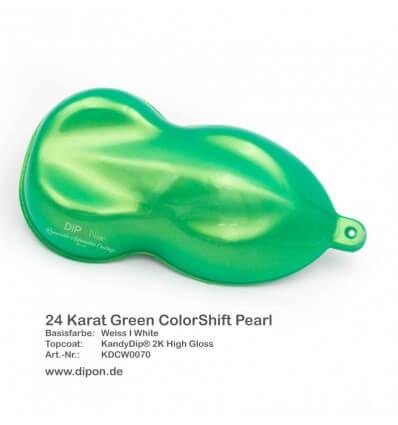 KandyDip® 24 Karat Green Colorshift Pearl Matt (Schwarze KandyDip® Basisfarbe / Black KandyDip® Basecoat)