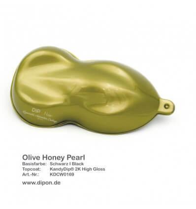 KandyDip® Olive Honey Pearl Matt (Schwarze KandyDip® Basisbeschichtung / Black KandyDip® Basecoat)