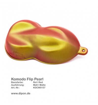 KandyDip® Komodo Flip Pearl Matt + KandyDip® 2K High Gloss (KandyDip® Rot Base)