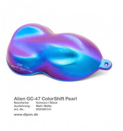 KandyDip® Alien GC-47 Colorshift Pearl Matt (Schwarze KandyDip® Basisfarbe / Black KandyDip® Basecoat)