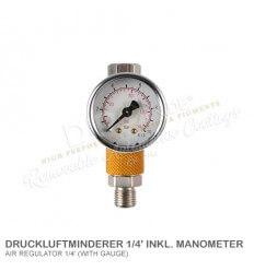 Druckluftminderer 1/4' inkl. Manometer
