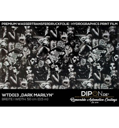 Dark Marilyn Wassertransferdruckfolie 50cm