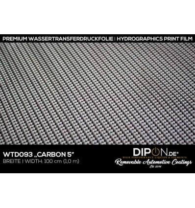 Carbon 5 Wassertransferdruckfolie 100cm