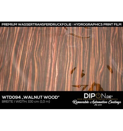 Walnut Wood Wassertransferdruckfolie 100cm