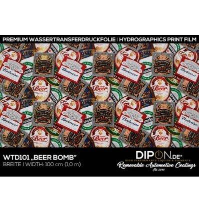 Beer Bomb Wassertransferdruckfolie 100cm