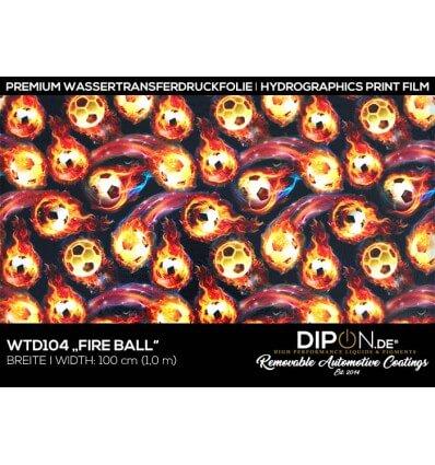 Fire Ball Wassertransferdruckfolie 100cm