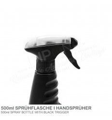 Handsprühflasche Pumpsprüher Schwarz 500 ml