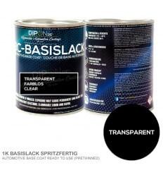 1K BC-Basislack Transparent Farblos Clear