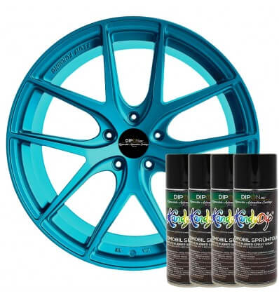 KandyDip® Rare Jade Pearl Aerosol Spray 400 ml (Basecoat: KandyDip® Schwarz Matt / Black Matte)