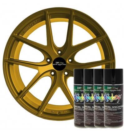 KandyDip® Pure Gold Alloy Pearl Matt (RAL 9005 Basis I RAL 9005 Base)
