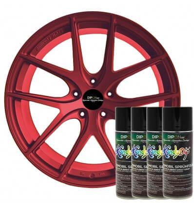 KandyDip® Carbon Red Pearl Matt (KandyDip® 9005 Basis / KandyDip® RAL 9005 Basecoat)