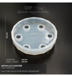 Lux Coaster Silicon Mold / Silikonform