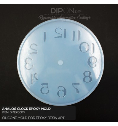 Analog Clock Silicone Mold / Silikonform