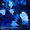 Majestic Blue Heart Cross Flake