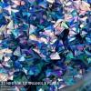 3D Neon Blue Triangle Flake
