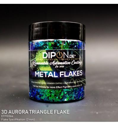 3D Aurora Triangle Flake