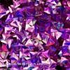 3D Aurora Neon Pink Flake