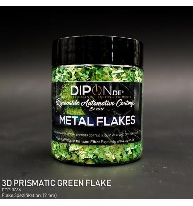 3D Prismatic Green Flake