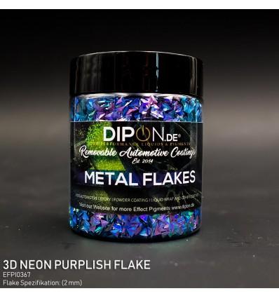 3D Neon Purplish Flake