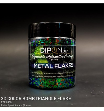 3D Color Bomb Triangle Flake