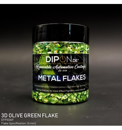 3D Olive Green Flake