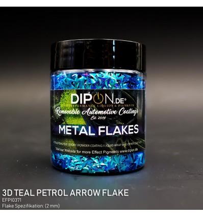 3D Teal Petrol Arrow Flake