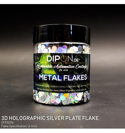 3D Holographic Silver Plate Flake