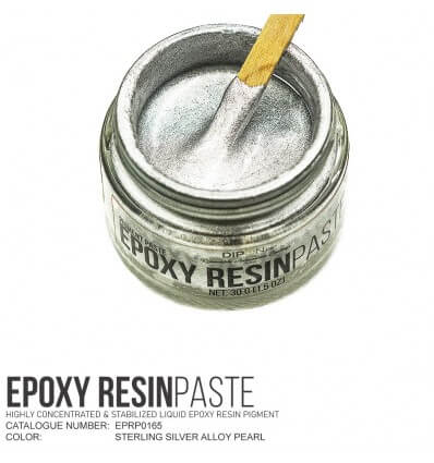 Sterling Silver Alloy Epoxy Resin Pigment Paste