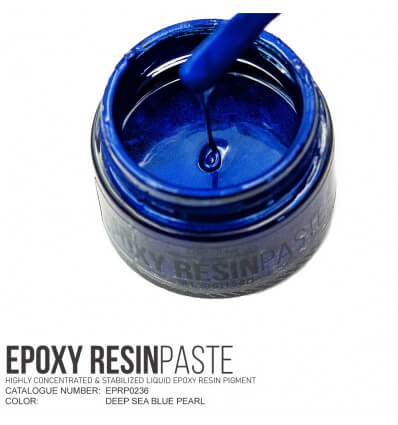 Deep Sea Blue Pearl Epoxy Resin Pigment Paste