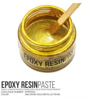 Abu Dhabi Gold Metallic Epoxy Resin Pigment Paste