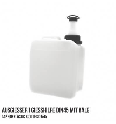 Ausgießer Gießhilfe DIN45 mit Balgverschluss