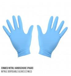 Einweg Nitril Handschuhe (Paar)