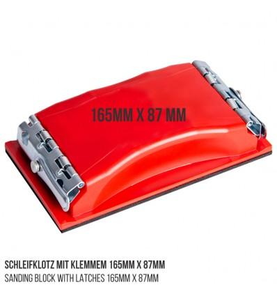 Schleifklotz mit Klemmen 165mm x 87mm - klein