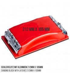 Schleifklotz mit Klemmen 212mm x 105mm - Groß