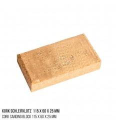 Kork Schleifklotz 115 x 60 x 25 mm