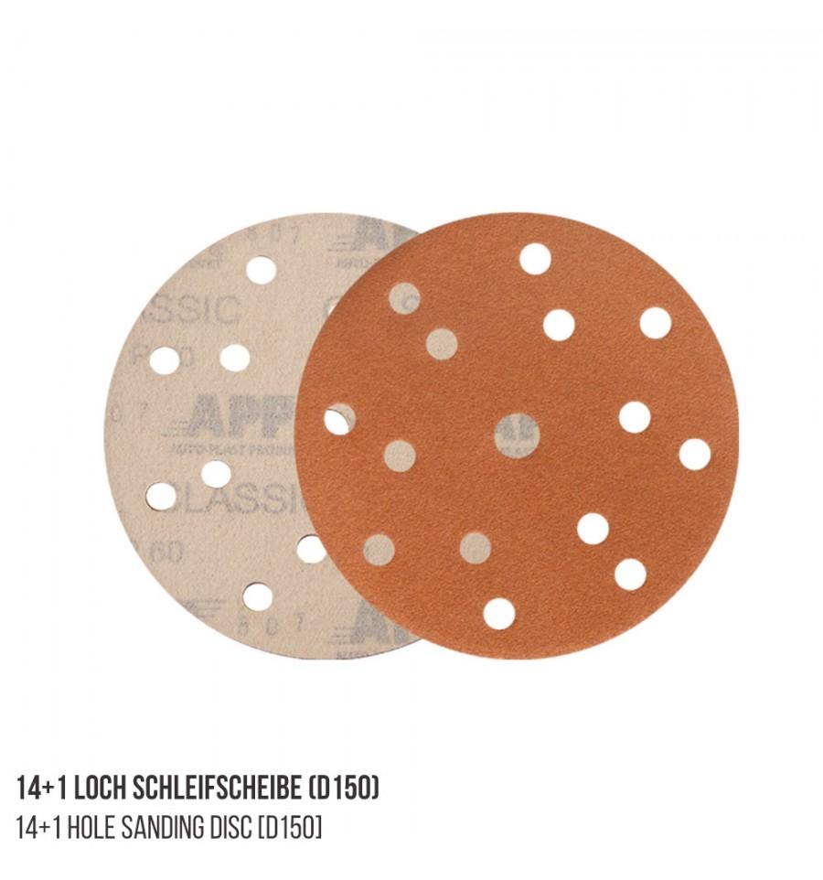 Schleifscheiben 100 Stück 14+1 Loch P240 150 mm 15