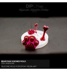 Bear Paw & Bones Mold / Silikonform
