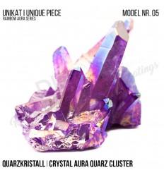 Rainbow Aura Crystal Quarz Cluster Typ 05 Bedampft