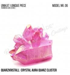 Rainbow Aura Crystal Quarz Cluster Typ 06 Bedampft