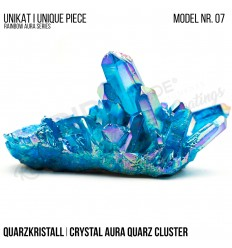 Rainbow Aura Crystal Quarz Cluster Typ 07 Bedampft