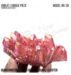 Rainbow Aura Crystal Quarz Cluster Typ 08 Bedampft