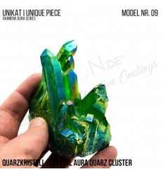 Rainbow Aura Crystal Quarz Cluster Typ 09 Bedampft