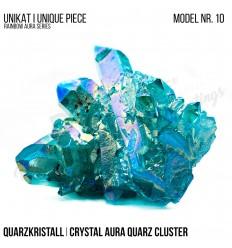 Rainbow Aura Crystal Quarz Cluster Typ 10 Bedampft