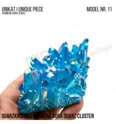 Rainbow Aura Crystal Quarz Cluster Typ 11 Bedampft