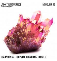 Rainbow Aura Crystal Quarz Cluster Typ 12 Bedampft