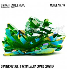 Rainbow Aura Crystal Quarz Cluster Typ 16 Bedampft
