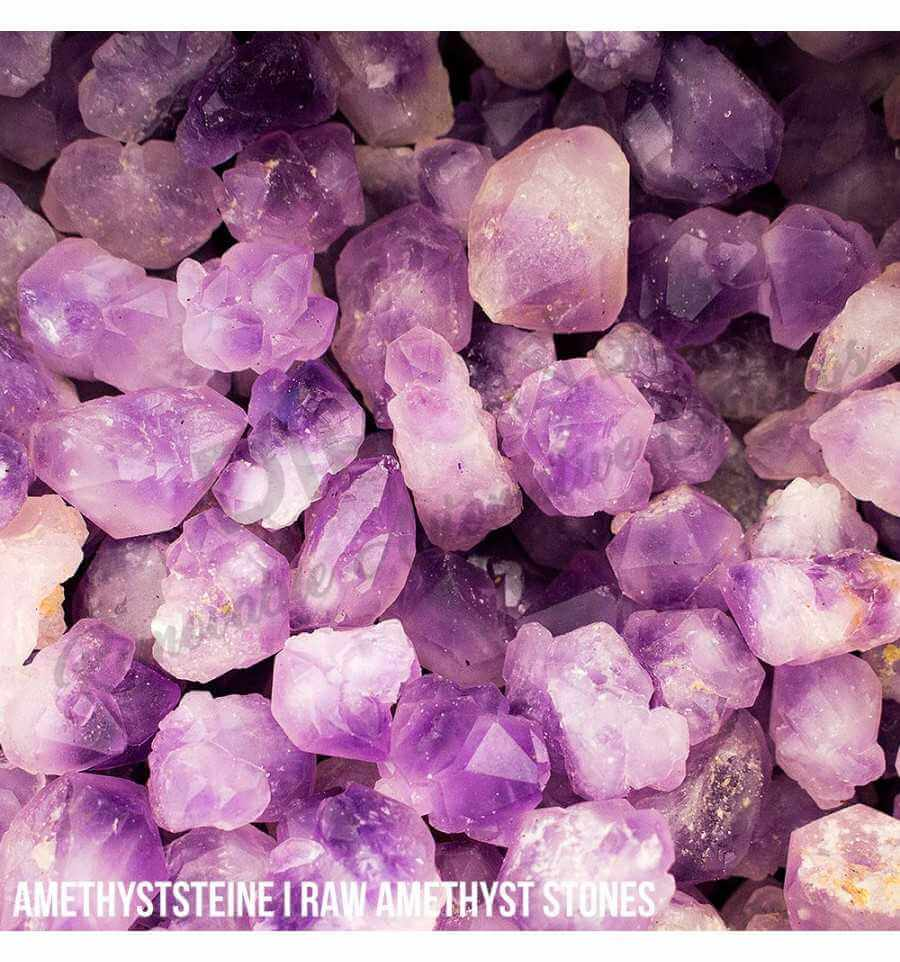 Amethyst Steine ca. 50 Gramm Kristalle & Steine