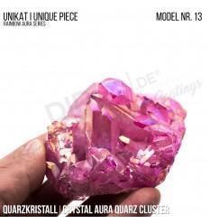Rainbow Aura Crystal Quarz Cluster Typ 13 Bedampft